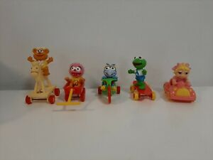 Vintage 1986 McDonald's Happy Meal Toys Complete Set of 5 Muppet Babies