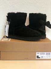 UGG Women's Customizable Bailey Bow Mini Boots (Size 7) Black