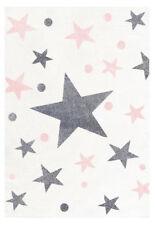 Kinderteppich Happy Rugs Stars Creme/grau rosa 160x230cm