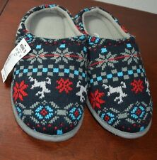 New Young Mens Large Sweater Slip-on Indoor Winter House Slippers Scuffs Shoes
