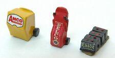 JL Innovative 443 HO Custom Gas Station Service Set: Wiper Boxes/Batteries 3 pcs