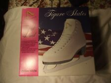 A American 522 Ladies White Figure Skates Size 8