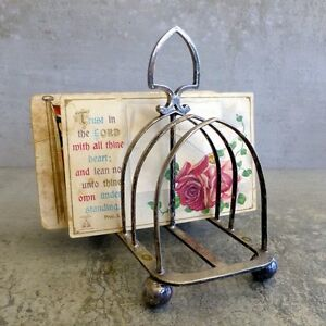 Vintage Harrison Brothers and Howson Sheffield Silver Plated Toast Rack damaged