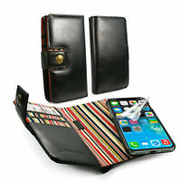 Engraved Alston Craig Leather Magnetic Wallet Case for iPhone XR-Black
