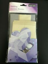 Cream Wedding Favour Boxes x10 Square Boxes and Lids NEW