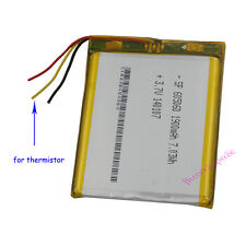 3.7V 1900mAh Polymer Li ion battery For GPS PSP PDA Tablet PC with 3 wire 605060