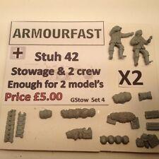 GUERRA presto 20mm (1/72) Armourfast Tedesco Sd Kfz 251/9 sistemazione Set Veicoli (2)