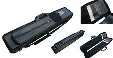 Champion Embroidered Black bag Leather 4x8 Pool Cue Case Hold 4 Butts 8 Shafts