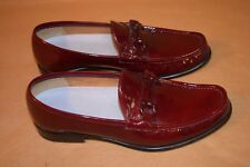 Salvatore Ferragamo Wine Burgundy Leather Loafers - SG3683 - Size 9.5 - 1B