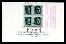 5104-GERMAN EMPIRE-Third reich.1937.WWII.BLOCK Used Michel Nº 7.Adolf HITLER.