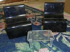 April Day Creations Rare fashion doll furniture 3 piece table 2 chairs Black set