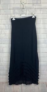 🍄 ISCHIKO 🍄 OSKA Lagenlook Long Black Knit Layered Skirt One Size UK 8-10