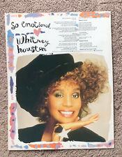 Whitney Houston - So Emotional 1987 full page Uk magazine lyric poster