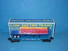 K - LINE  -  TRUE  VALUE  FLAT  CAR, DIE-CAST  TRAILER  &  LOAD   #  669101