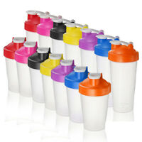 400/600ml BPAfree Shake Protein Blender Shaker Mixer Cup Drink Whisk Bottle
