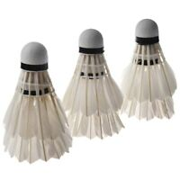6PCS White Feather Shuttlecocks Badminton P4C4