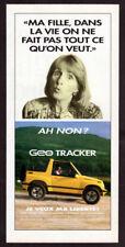 1993 GEO Tracker Vintage Original Print AD Yellow car photo Chevrolet Oldsmobile