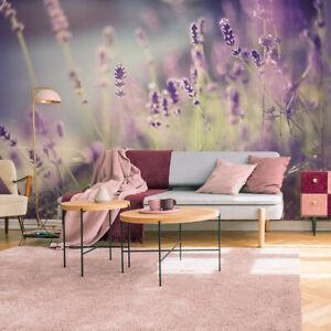 Fototapete VLIES Tapete xxl Wandtapete Blumen Lavendel Wiese 1498