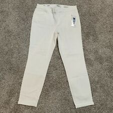 NWT Womens Jessica Simpson White Rolled Crop Skinny Denim Jeans Size 6