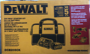 NEW!!!! DEWALT DCB205CK Lithium-Ion Battery & Charger Set