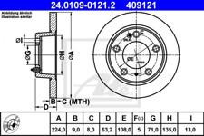 2x Bremsscheibe für Bremsanlage Hinterachse ATE 24.0109-0121.2