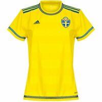 adidas Sweden Home Jersey 2015-16 Womens Yellow Football Soccer Shirt Ladies XXS