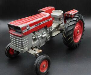 1965 Ertl Massey Ferguson 175 Diesel diecast farm tractor unrestored original *