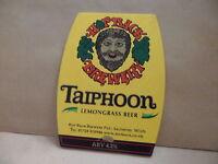 Hopback Brewery Taiphoon Ale Beer Pub Bar Pump Clip Face 17