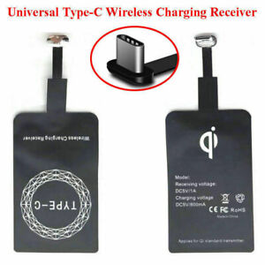 New QI Wireless Charger Receiver For Samsung Huawei LG Sony Android Type-C Port
