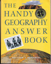 THE HANDY GEOGRAPHY ANSWER BOOK, ROSENBERG - NICE!
