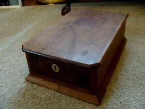 Victorian Victorian Walnut Dresser Part Top  Drawer Hankie / Glove Box