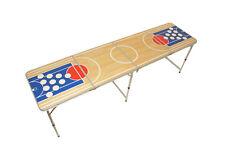 Bière Pong Table, Beer Pong Table Incl. Ensemble de règles, Table de camping table, Basket pong, 2