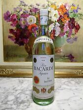 RUM - ROM BACARDI = CARTA BLANCA IMPORTED = OLD BOTTLE =