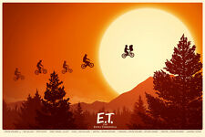 E.T. THE EXTRA TERRESTRIAL by MIKE MITCHELL Movie Poster Art Print MONDO '13 ET