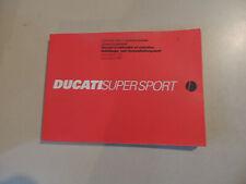 Fahrerhandbuch Betriebsanleitung Ducati 750 900 SS Supersport 1999 owners manual