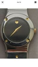 MOVADO MUSEUM 86-A1-836K STAINLESS STEEL BLACK DIAL VINTAGE QUARTZ WOMENS WATCH