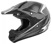 Cyber Youth UX-23 Carbonite Helmet  Grey/Black, Youth M