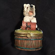 Westie Collectable box w/ latch