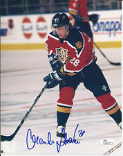 MARTIN STRAKA AUTOGRAPH PHOTO 8 X 10  Florida Panther Home Jersey JSA/COA