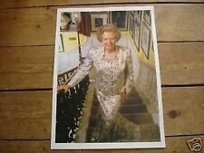 Margaret Thatcher on stairs of number 10 POSTER