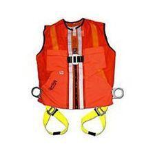 GUARDIAN 02100 Mesh Tux Vest Small Hi-Viz Orange Construction Harness: 3 D-Rings
