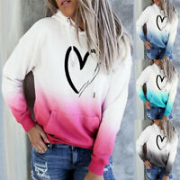 Womens Casual Long Sleeve Hoodies Jumper Tops Sweatshirt Pullover Blouse AU