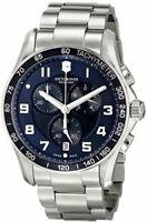 $695 VICTORINOX Swiss Army Mens BLUE 45mm Dial Chronograph Swiss Watch 241652