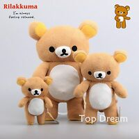 Kawaii Rilakkuma Relax Bear Plush Toy Soft Stuffed Animal Pillow Doll Teddy