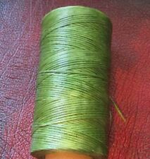 Waxed Artificial Sinew 1. mm. for leather hand sewing     Light Army green