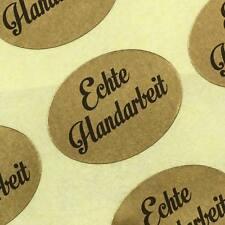 Aufkleber Echte Handarbeit gold Etiketten Haftpapier auf Rolle 25 x 18 mm