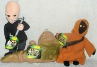 1997 Kenner Star Wars Buddies Beanbag Plush Jawa Jabba The Hutt D'An Casino NWT