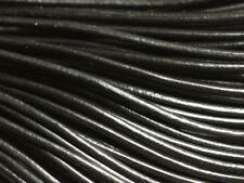 4m - Cordon Cuir Véritable Noir 3mm   4558550005694