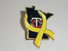 "Tiny ""Yellow Ribbon"" Minnesota Twins   "" VETERANS""  pin"