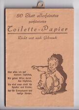 """TOILETTE - PAPIER, 50 BLATT - zum abreißen - mit je einem Witz, um 1930/50 """"neu"""""""